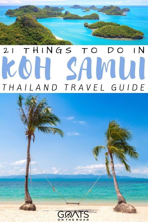 paradise beach with text overlay 21 things to do in Koh samui