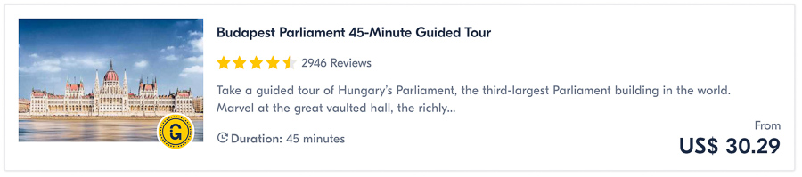 things to do in budapest parliament tour