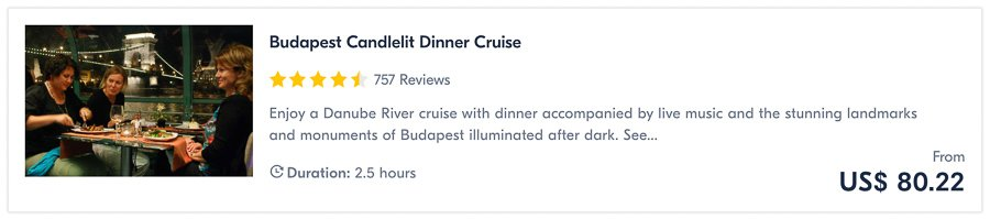 candle light dinner cruise