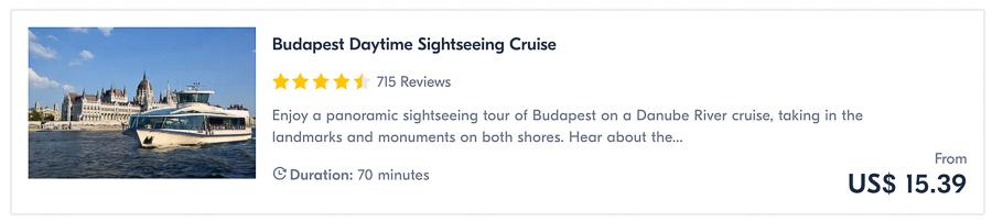 day cruise budapest
