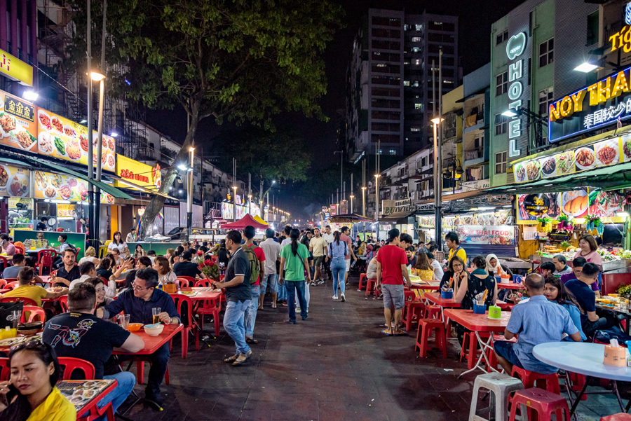 jalan alor food street KL