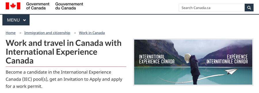 how to apply for the working holiday program in canada