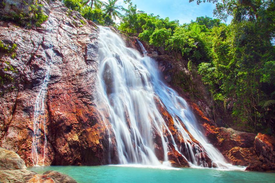 na muang 1 waterfall in koh samui