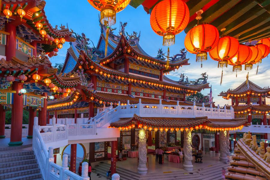 Thean Hou Temple in chinatown kuala lumpur