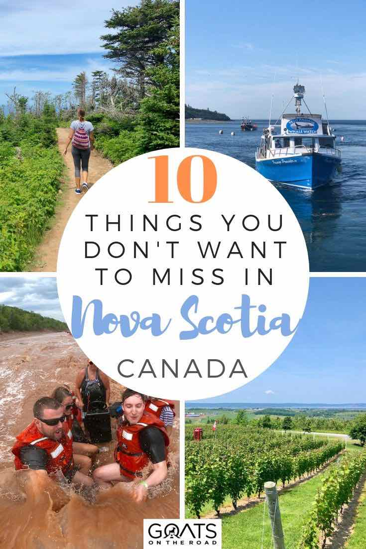 highlights of Nova Scotia with text overlay 10 things you don't want to miss