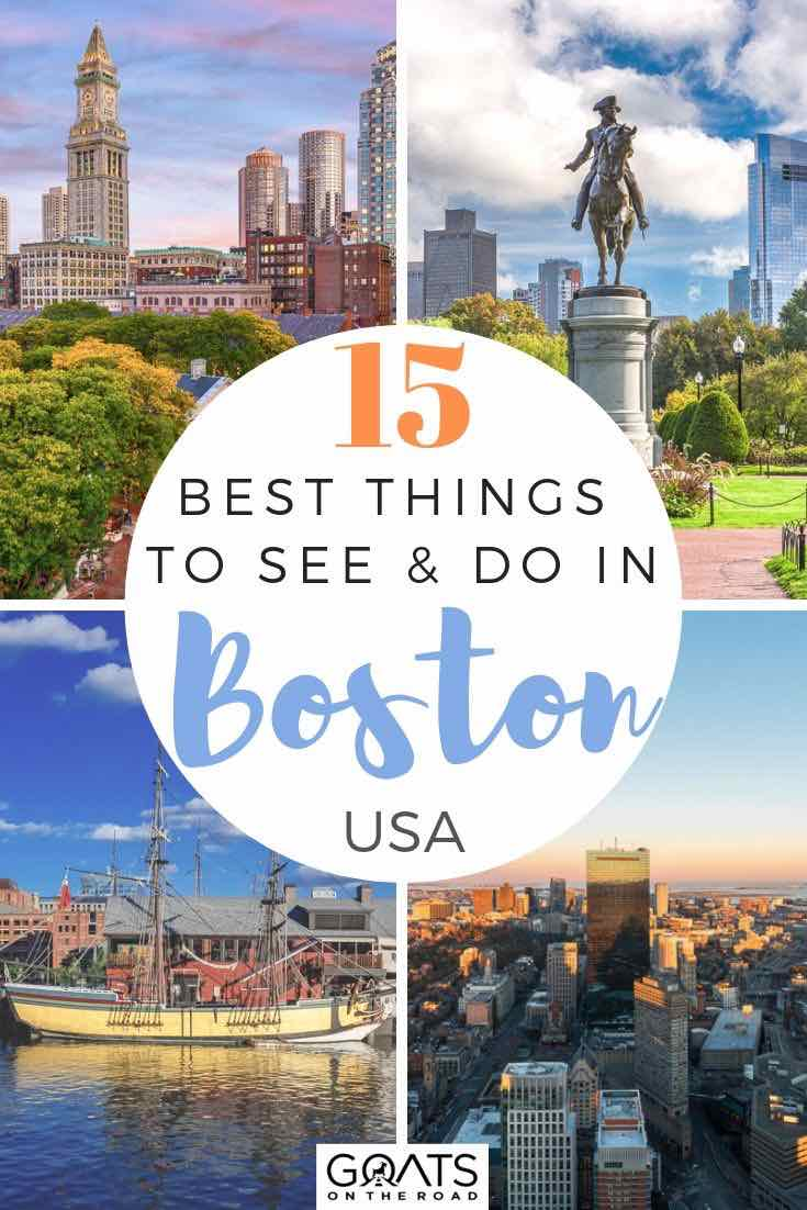 highlights of boston with text overlay 15 best things to see and do