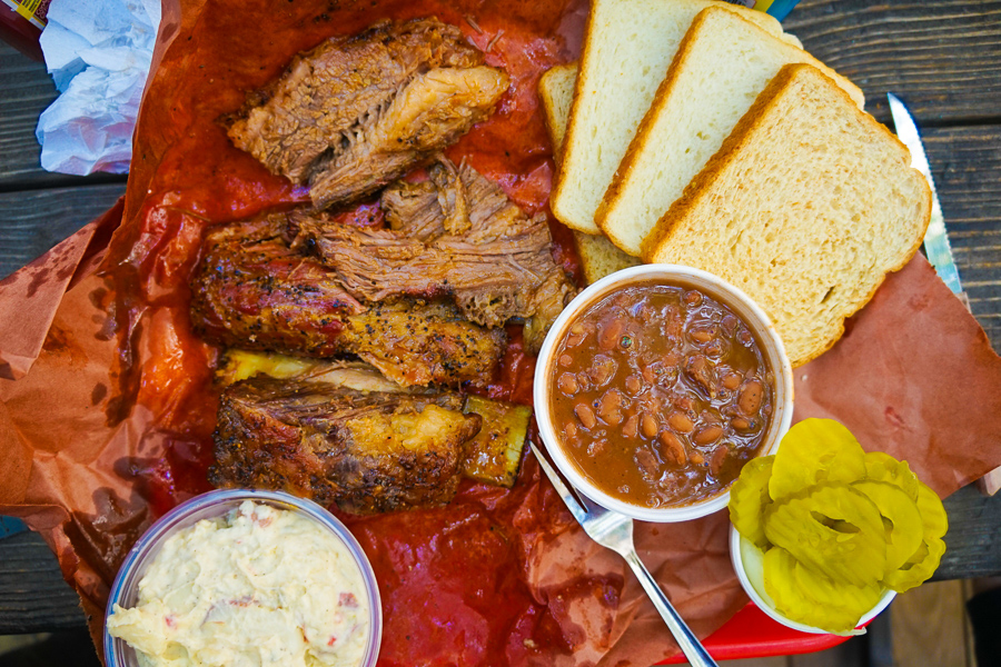 bbq meal in austin