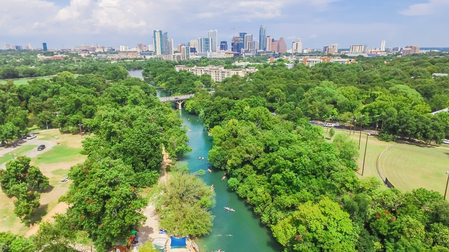 zilker park austin floating