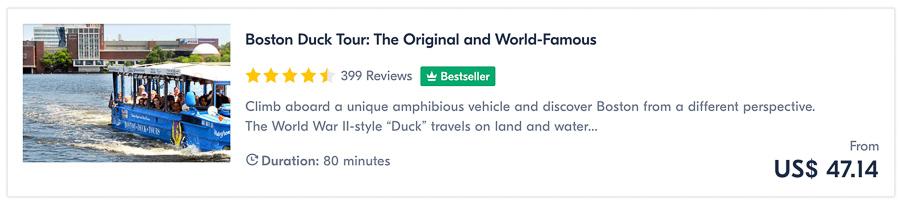 boston duck tour things to do