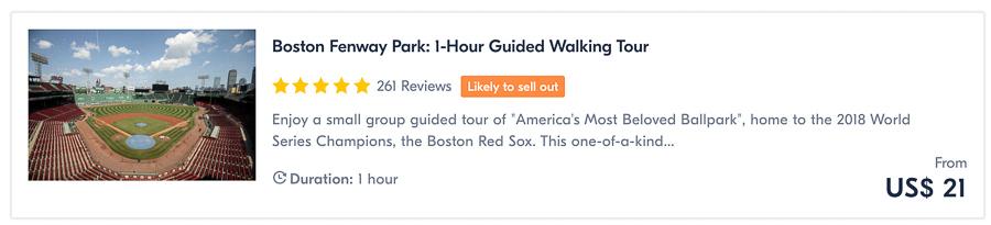 boston fenway park tour