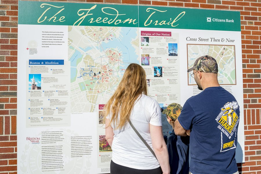 freedom trail map in boston