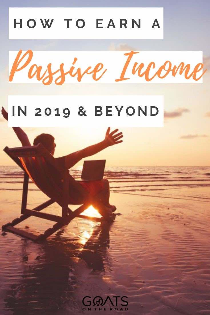 sunset with text overlay how to earn a passive income in 2019