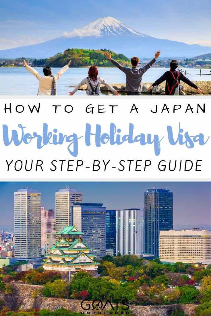mt fuji with text overlay how to get a Japan working holiday visa