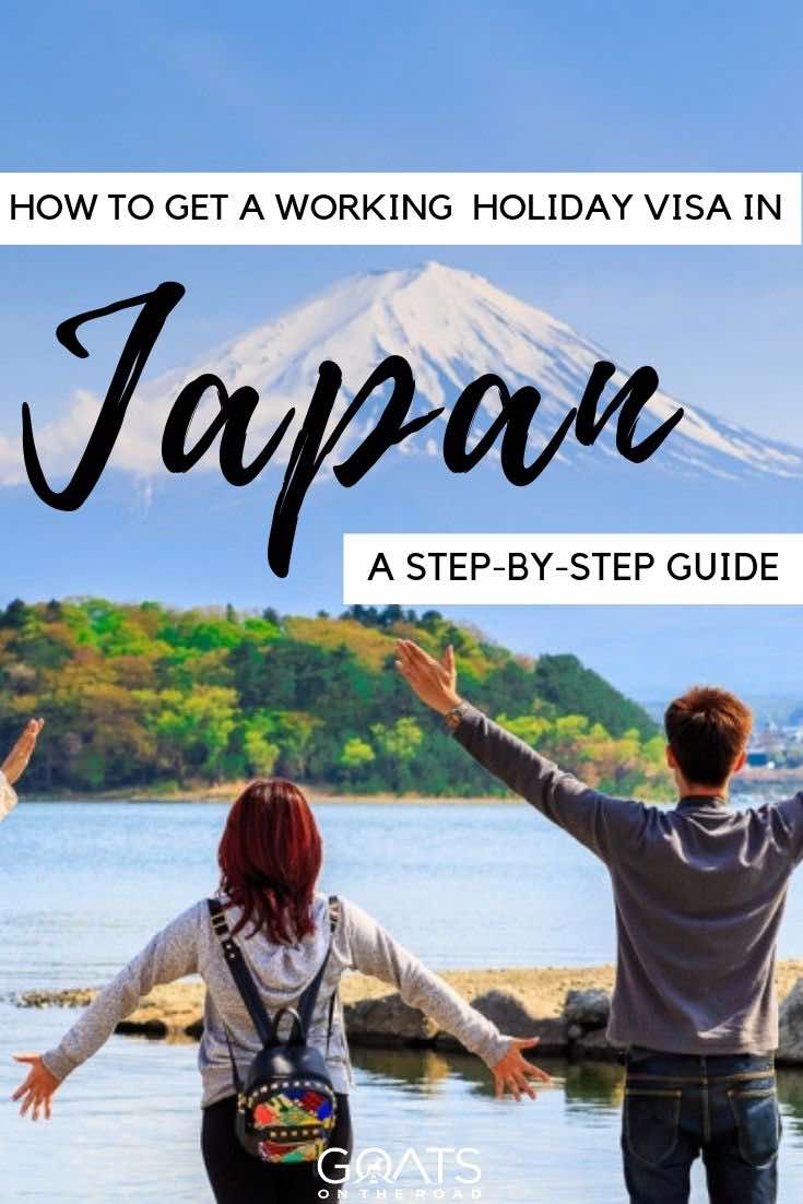 mt fuji with text overlay how to get a working holiday visa in japan