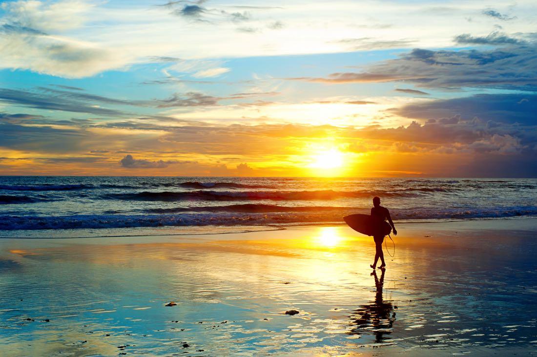 surfing beach in bali