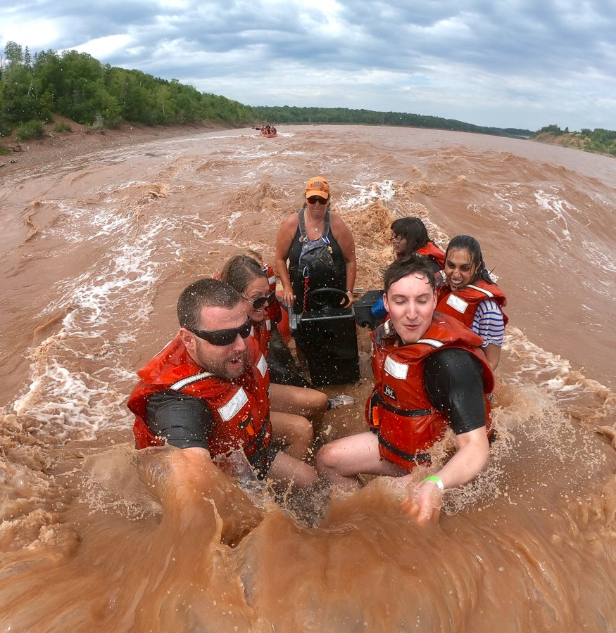 tidal bore rafting in one of the top things to do in nova scotia