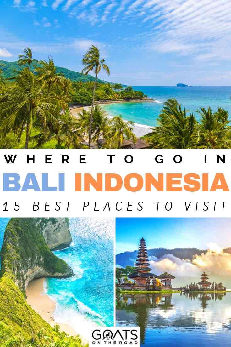 beaches in Bali with text overlay where to go in Bali indonesia