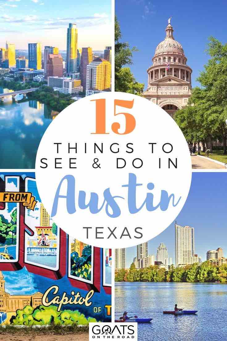highlights of Austin with text overlay 15 things to see and do