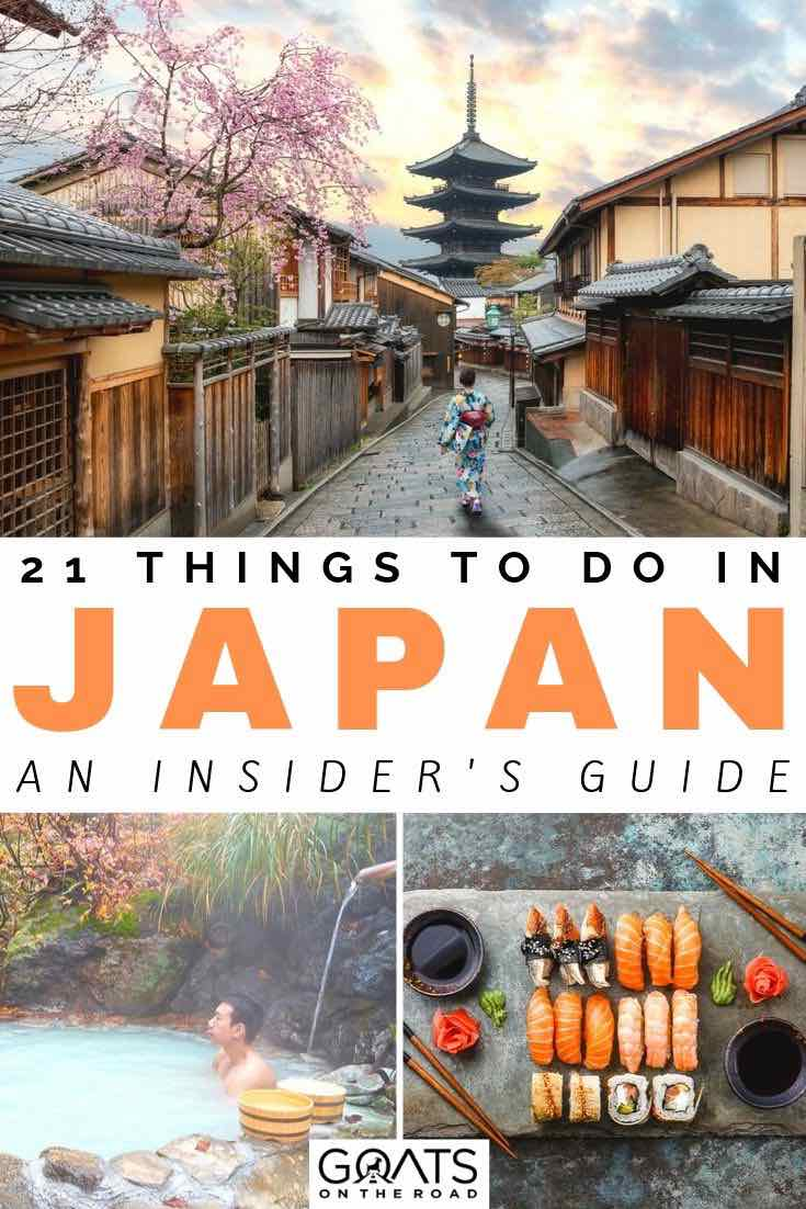 temples in Japan with text overlay 21 things to do