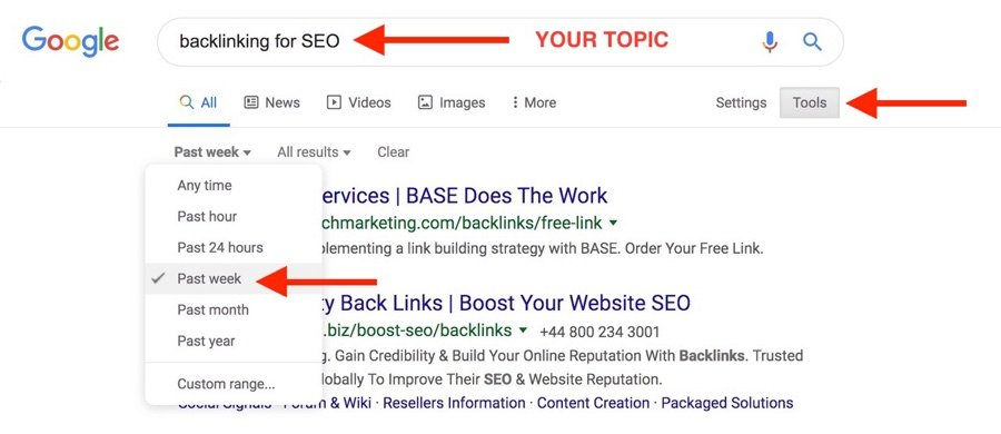 Build Hot Backlinks Google Search