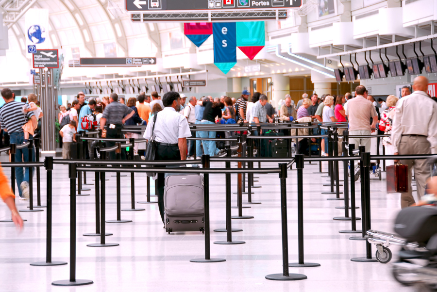 line ups at the airport when you don't have a trusted traveler program