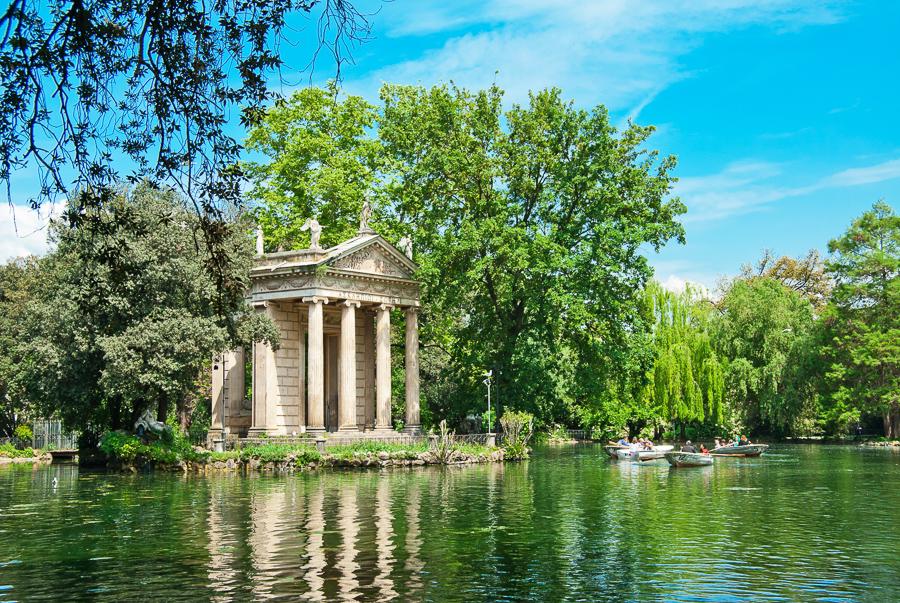 vila borgese gardens in rome