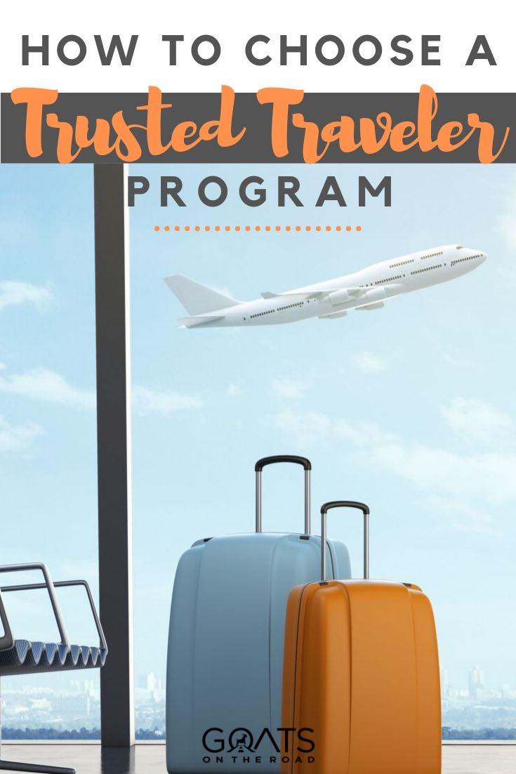 airport with text overlay how to choose a trusted traveler program