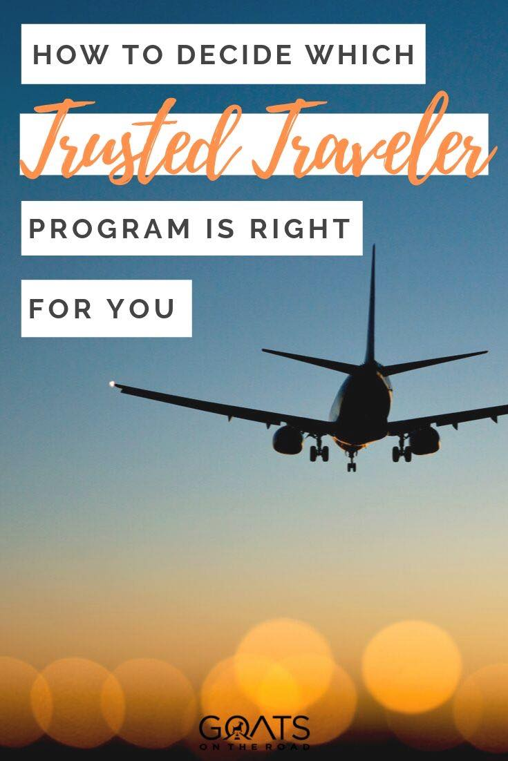 airplane landing with text overlay how to decide which trusted traveler program is right for you