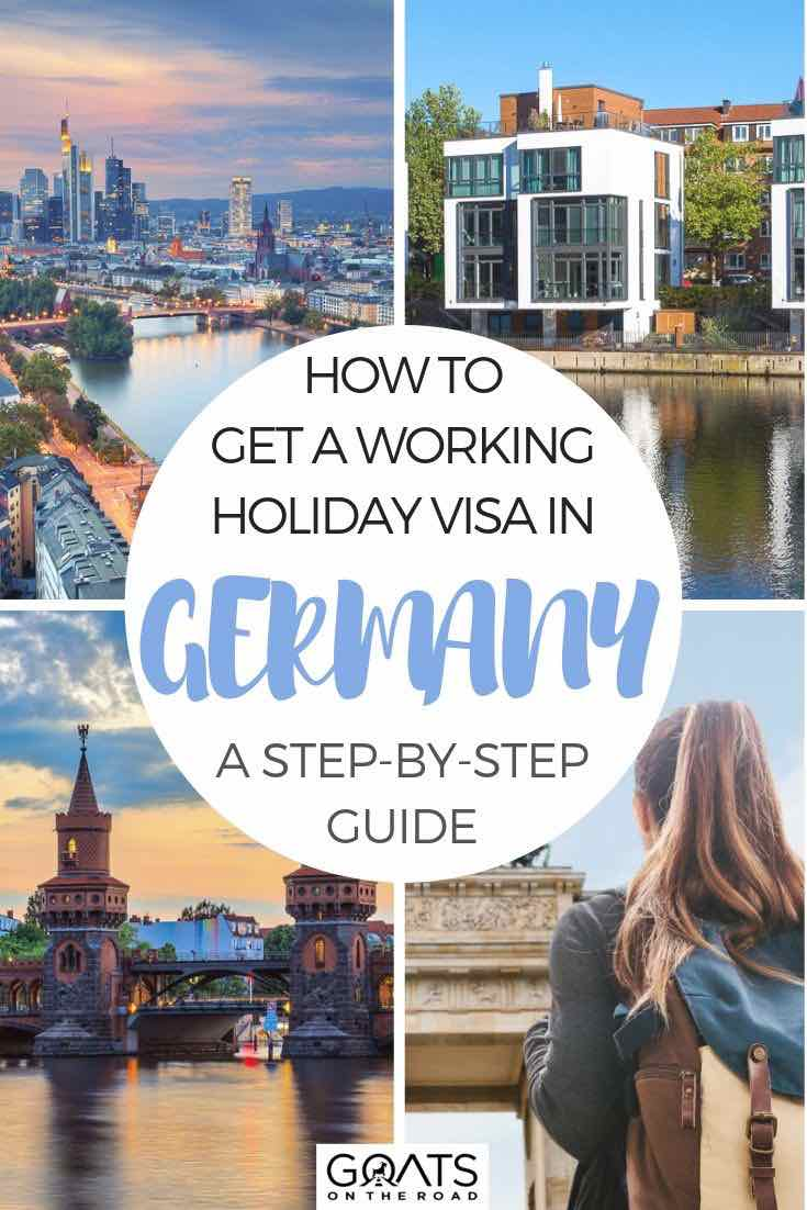 highlights of Germany with text overlay how to get a working holiday visa