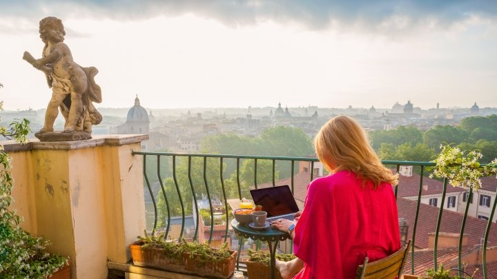 living in rome as a digital nomad