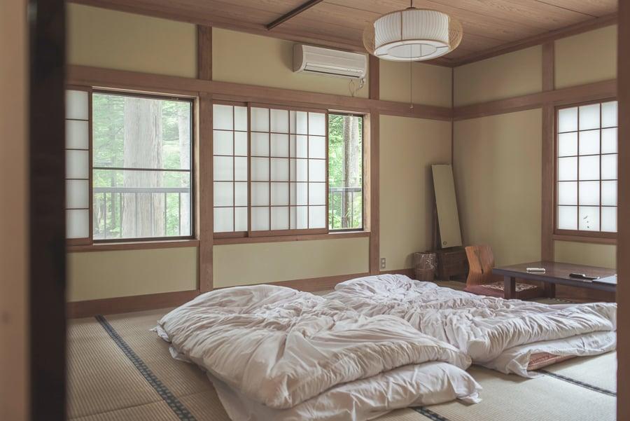 sleeping on the floor in japan