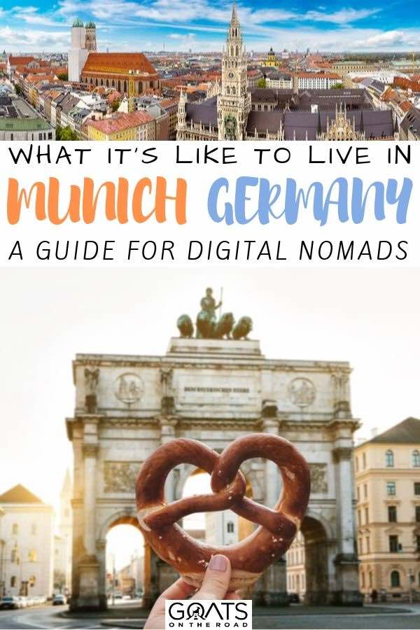 pretzel in Munich with text overlay what it's like to live in Munich germany