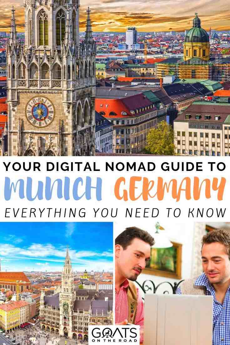 Munich with text overlay your digital nomad guide