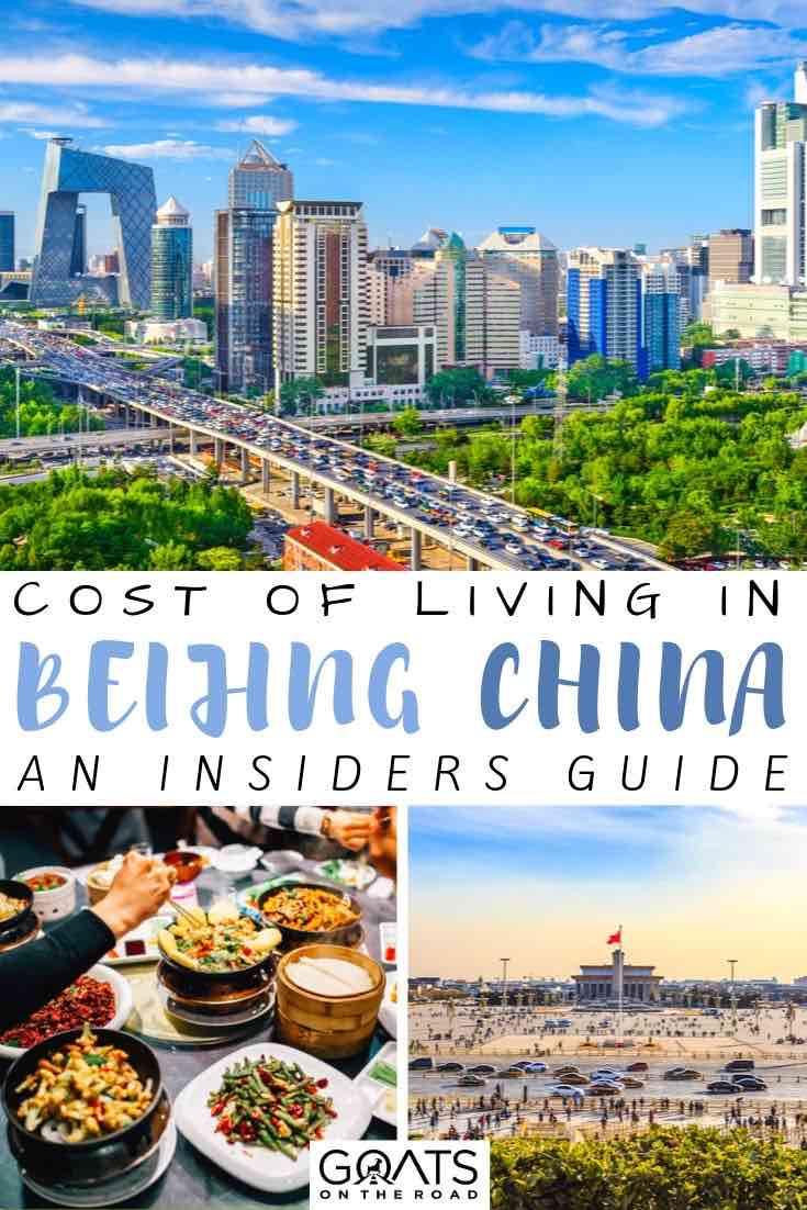 Beijing china with text overlay cost of living