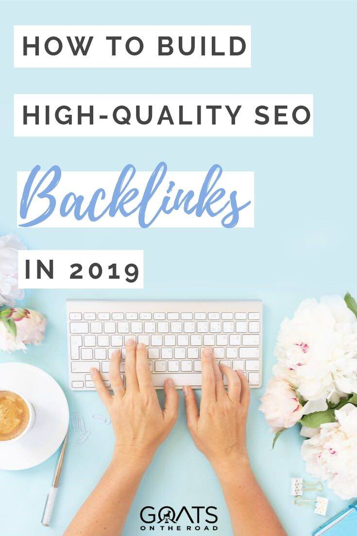 typing with text overlay how to build high quality SEO backlinks