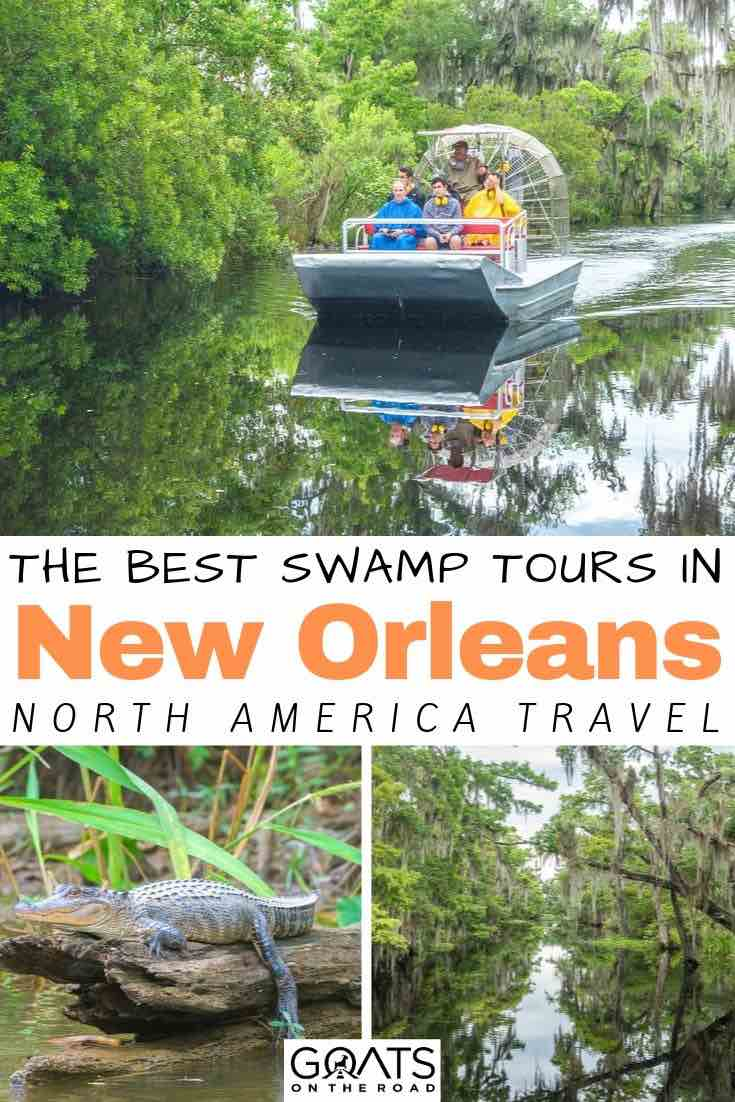 swamp tour with text overlay the best swamp tours in new orleans