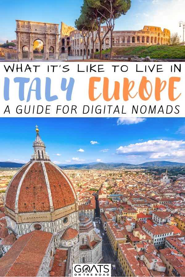 Florence with text overlay what its like to live in Italy europe