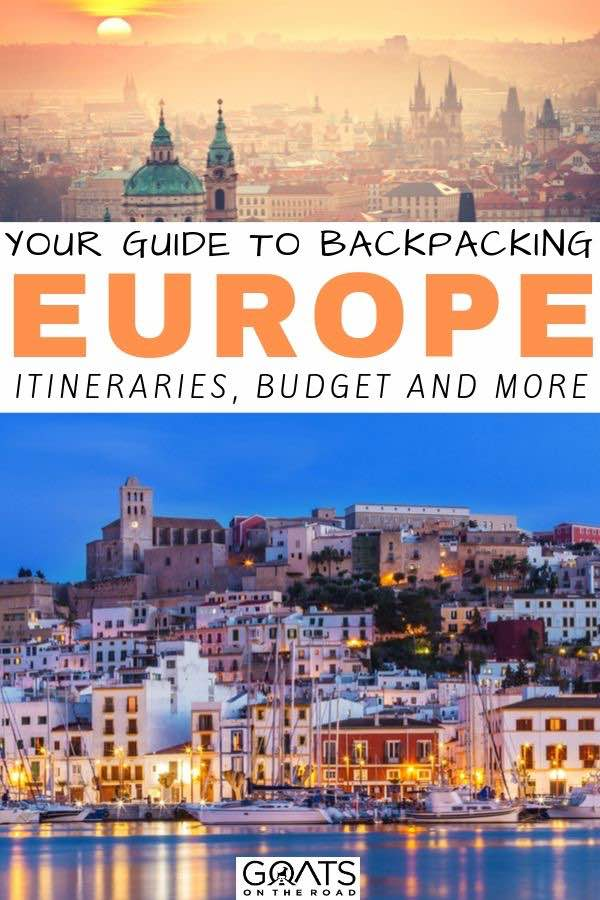 Italy with text overlay your guide to backpacking europe