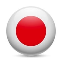 Japan Travel Flag Button