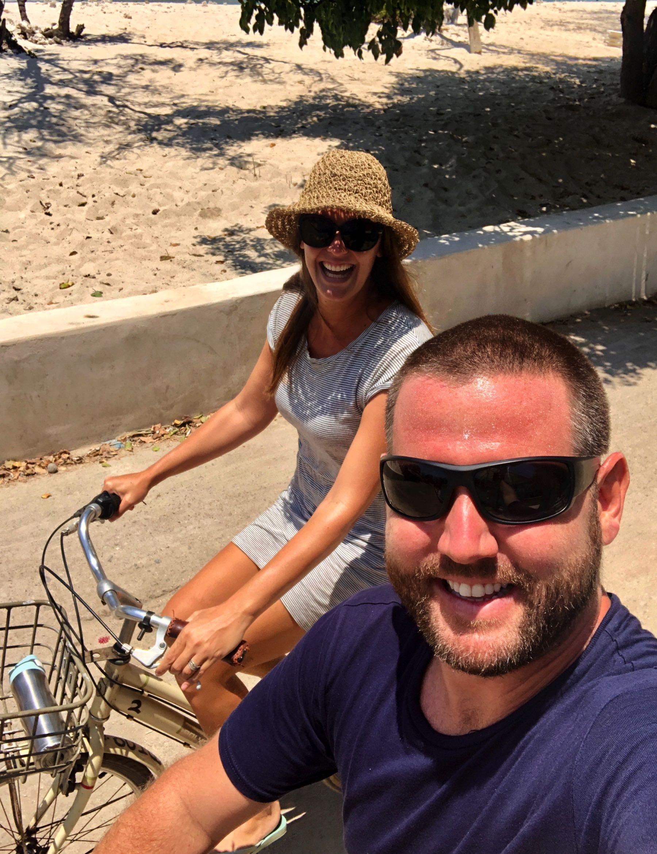 biking around gili t