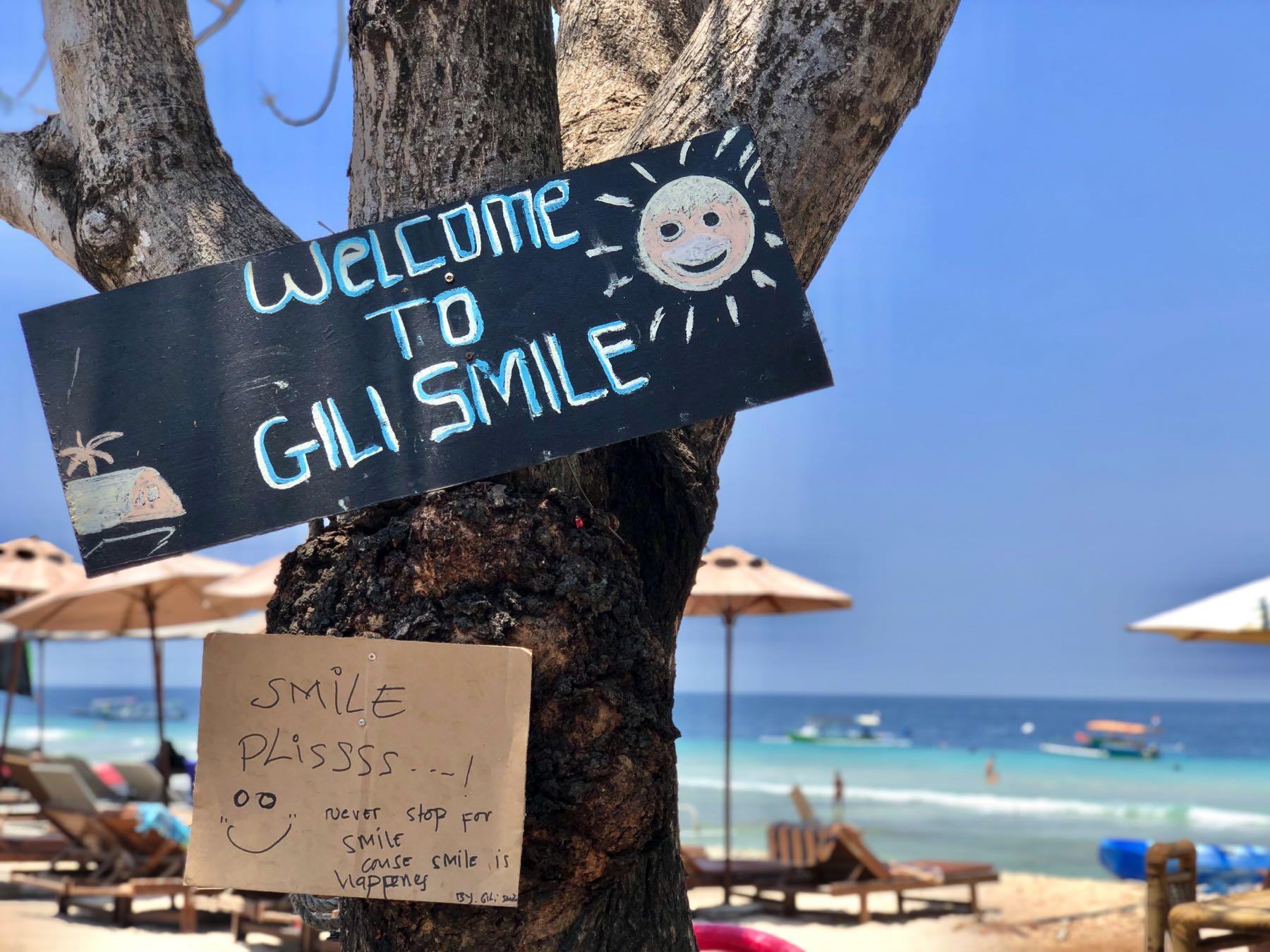 gili island sign