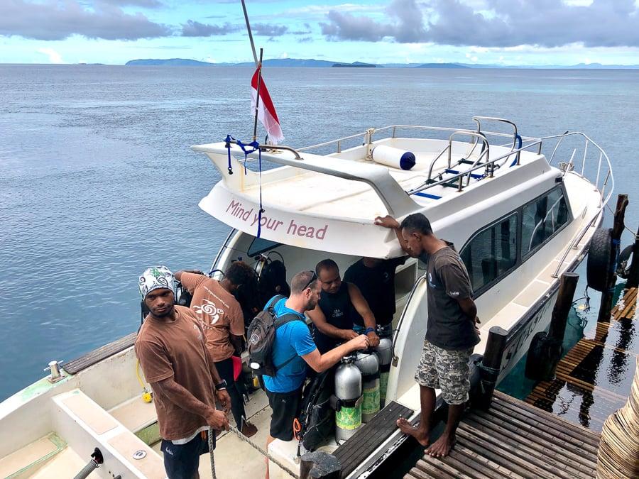 dive boat raja ampat