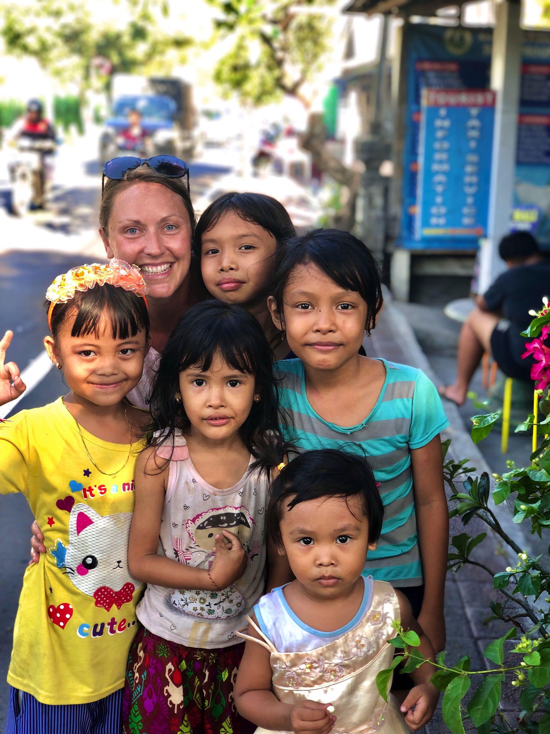 children in candidasa bali