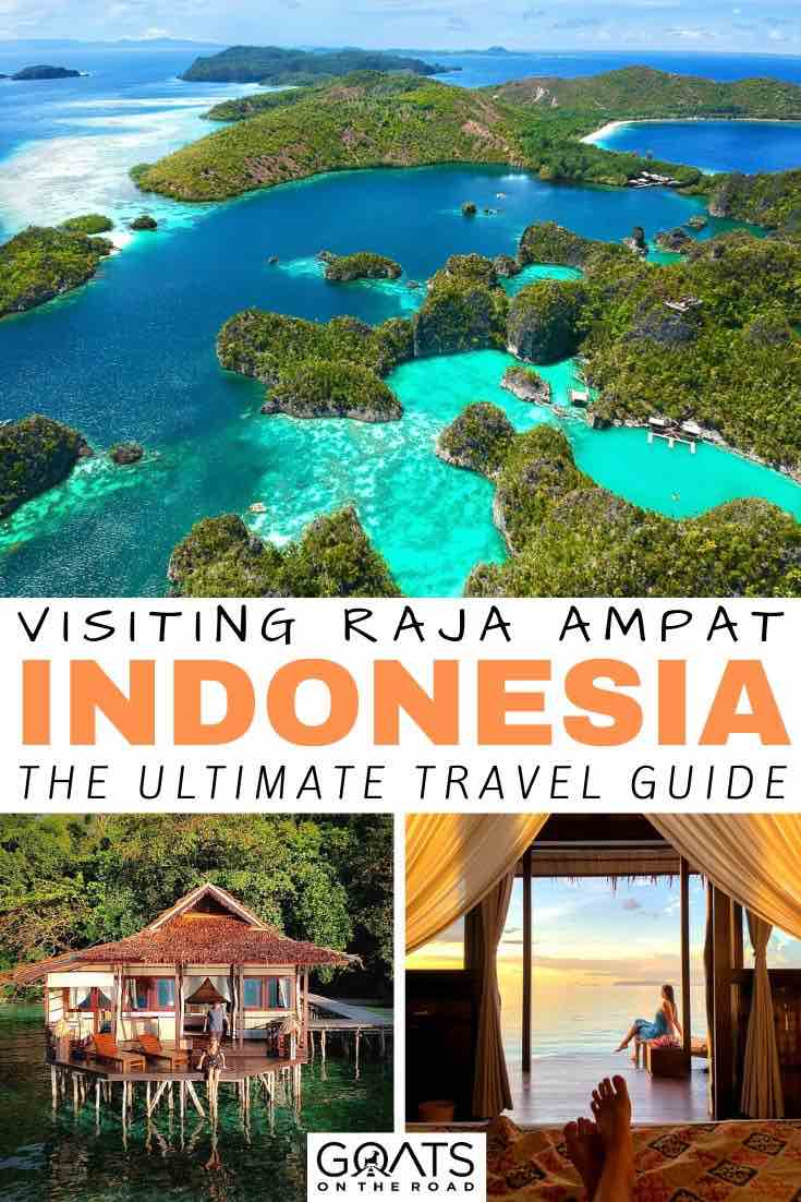 Raja Ampat with text overlay Indonesia guide