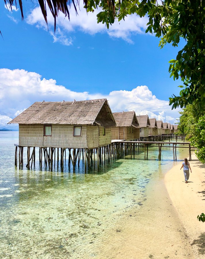avoiding sunburn in raja ampat