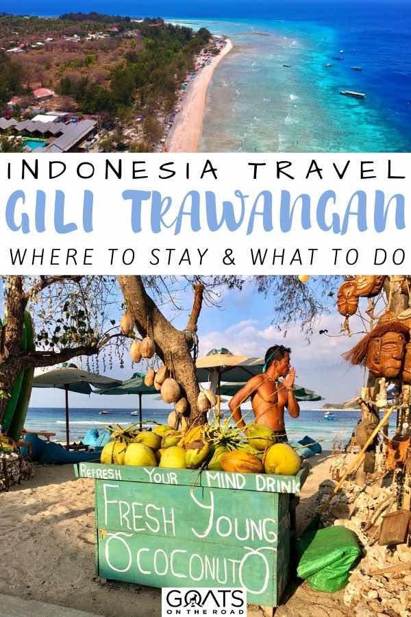 coconuts with text overlay indonesia travel Gili trawangan