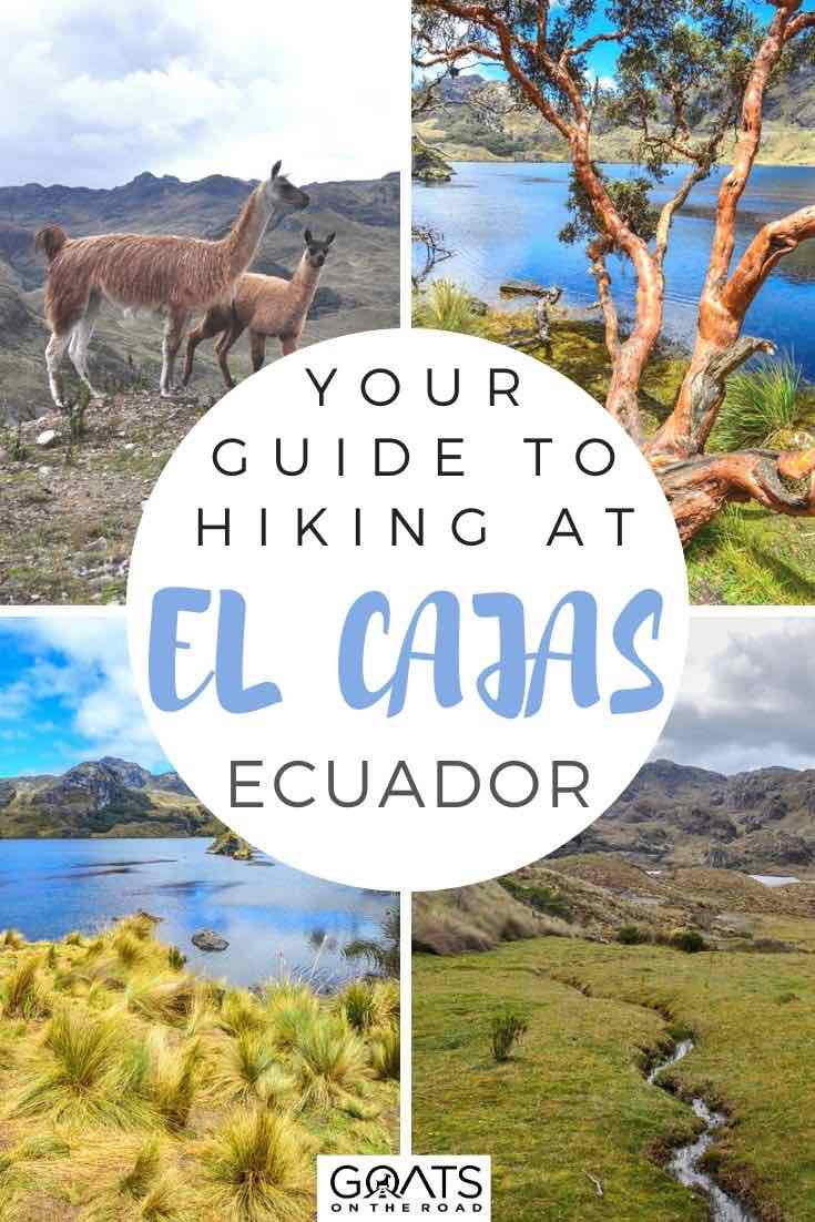highlights of el cajas national park Ecuador with text overlay your guide to hiking