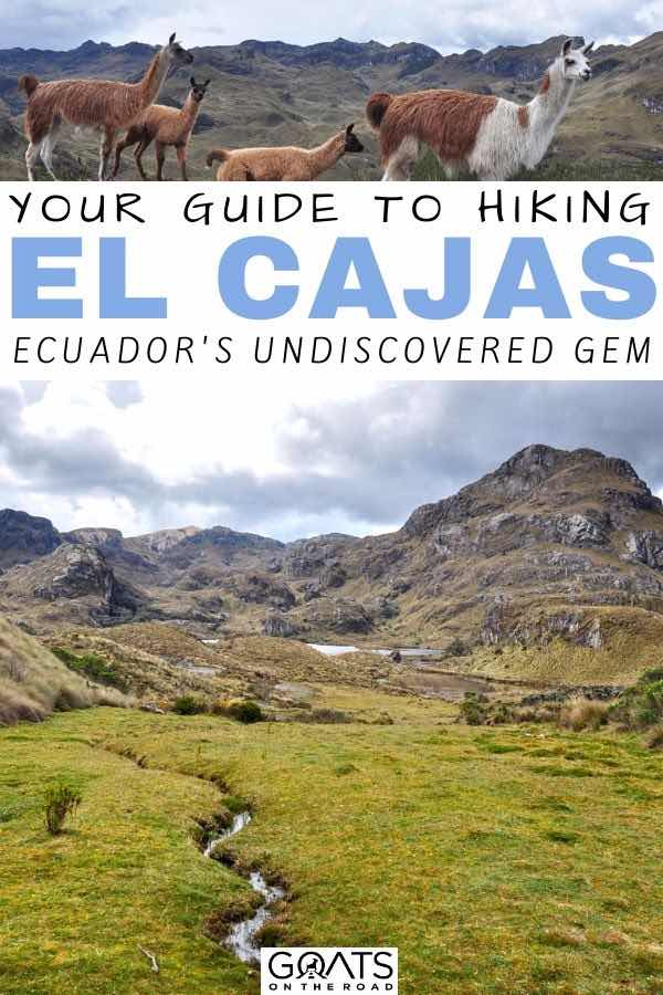 el cajas with text overlay your guide to hiking