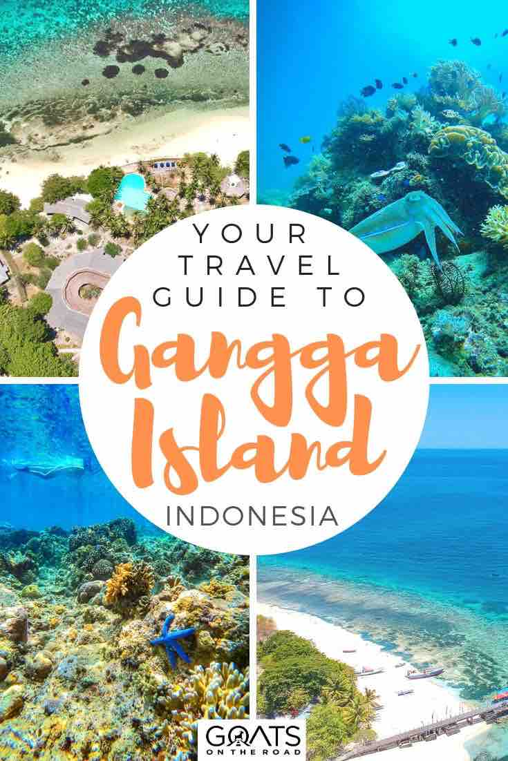 highlights of Gangga Island with text overlay your travel guide