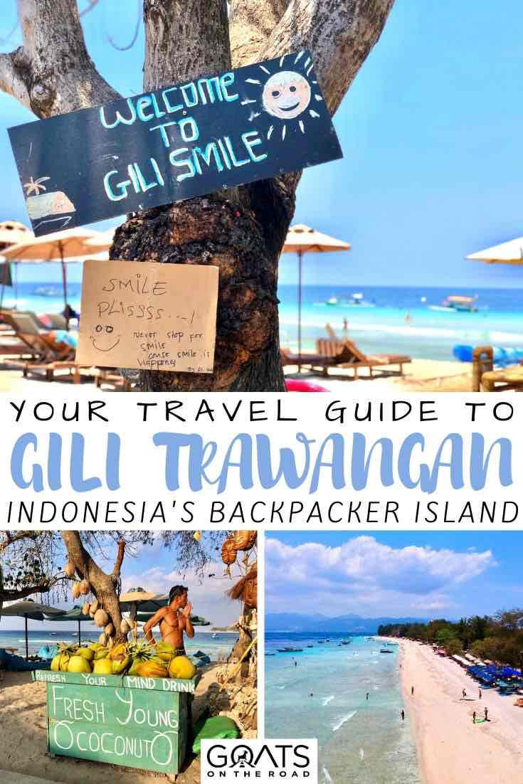Gili Trawangan with text overlay your travel guide